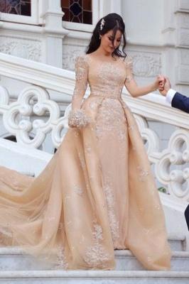 Designer Brautkleider Mit Ärmel | Hochzeitskleider A Linie Online_1
