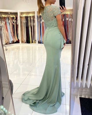 Designer evening dresses with lace | Prom dresses cheap online_3