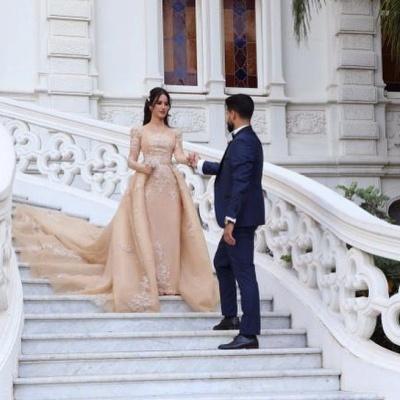 Designer Brautkleider Mit Ärmel | Hochzeitskleider A Linie Online_2