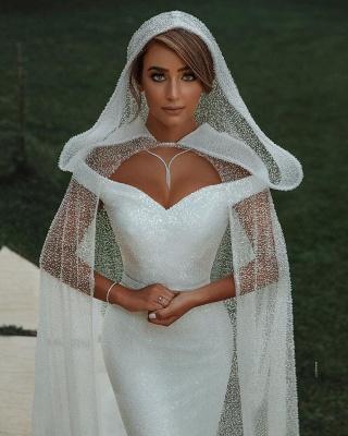 Fashion Brautkleider mit Glitzer | Hochzeitkleider Meerjungfrau Online_5