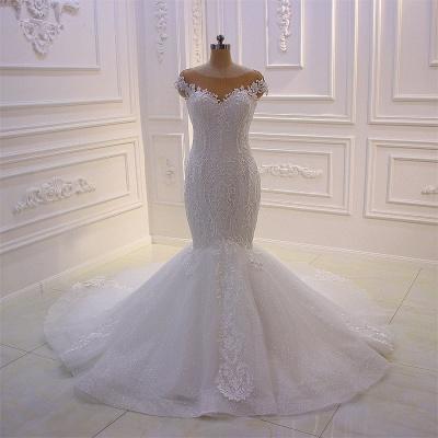 Designer Hochzeitskleider Meerjungfrau   Brautkleider mit Spitze_2