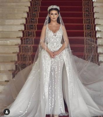 Luxus Hochzeitskleider A Linie | Brautmoden mit Spitze Online_5