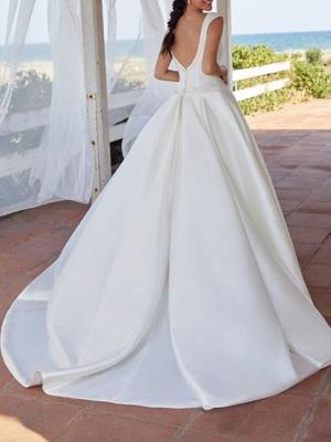 Simple wedding dress A line | Gorgeous Wedding Dress Cheap Online_2