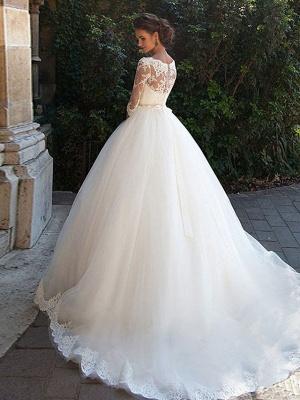 Günstige Brautkleider Prinzessin | Hochzeitskleider Spitze Ärmel_4