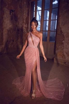 Elegante Abendkleider Lang Rosa | Abiballkleider mit Glitzer