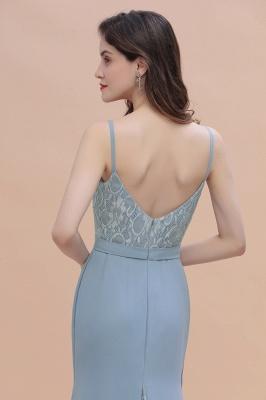 Steel Blue Brautjungfernkleider Lang Chiffon | Schlichtes Abendkleid_10