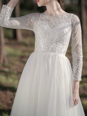 Gorgeous Wedding Dresses With Sleeves | Lace wedding dress short_2
