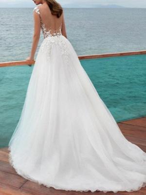 Wunderschöne Brautkleider A Linie | Hochzeitskleid mit Ärmel_3