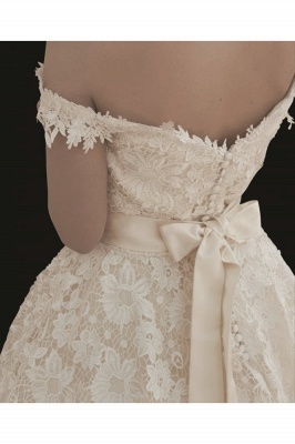 Günstige Brautkleider Kurz A linie | Hochzeitskleider aus Spitze_3