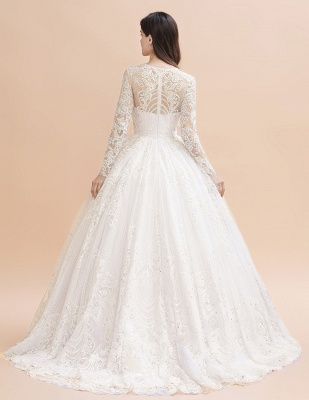 Gorgeous wedding dresses with sleeves | Lace wedding dress princess_3