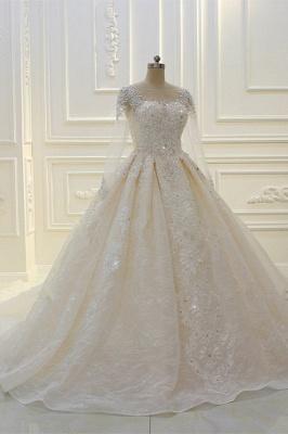 Schöne Brautkleider Mit Glitzer | Hochzeitskleider A Linie Spitze_3