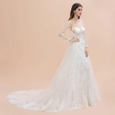 Designer Brautkleider Meerjungfrau | Hochzeitskleider Spitzeärmel_10