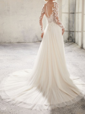 Elegant wedding dresses with sleeves | Lace Wedding Dresses Online_2