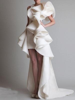 Elegante Brautkleider Günstig | Etuikleider Hochzeitskleider Kurz Vorne Lang Hinter_1