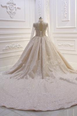 Hochzeitskleider Prinzessin Glitzer | Brautkleider mit Ärmel_5