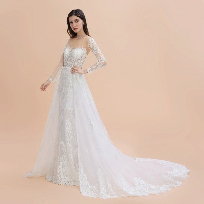 Designer Brautkleider Meerjungfrau | Hochzeitskleider Spitzeärmel_11