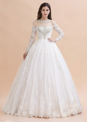 Gorgeous wedding dresses with sleeves | Lace wedding dress princess_1