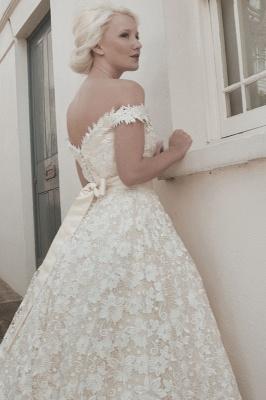 Günstige Brautkleider Kurz A linie | Hochzeitskleider aus Spitze_2