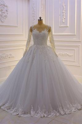 Designer Hochzeitskleider Prinzessin Spitze | Brautkleider Mit Ärmel
