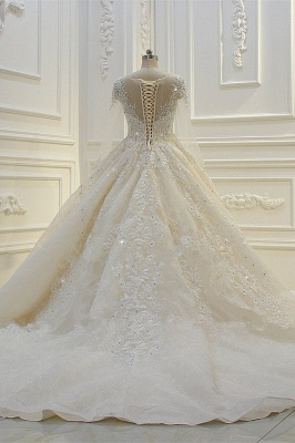 Schöne Brautkleider Mit Glitzer | Hochzeitskleider A Linie Spitze_6