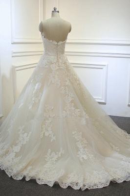 Brautkleider A Linie Spitze | Hochzeitskleider Maßgeschneidert_4