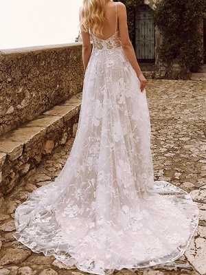Elegant wedding dresses A line | Wedding dresses with lace_2