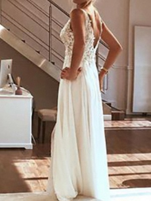 Simple wedding dresses with lace | Sheath dresses bridal online_2