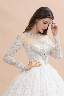 Gorgeous wedding dresses with sleeves | Lace wedding dress princess_8