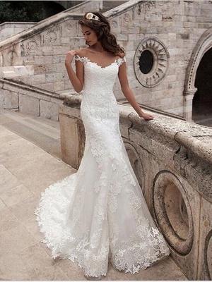 Wunderschöne Brautkleider Meerjungfrau | Spitze Hochzeitskleider Online_2