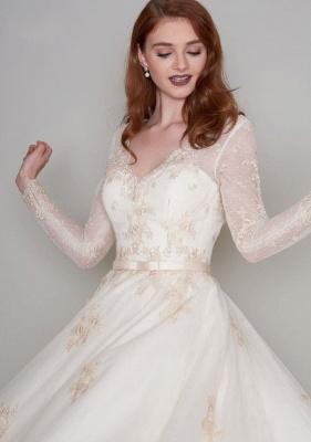 Wunderschöne Hochzeitskleider Kurz mit Ärmel | Spitze Brautkleider A Linie_5