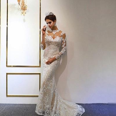 Luxus Hochzeitskleid A linie | Brautkleider Spitzeärmel Günstig_4