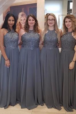 Elegante Brautjungfernkleider Lang Chiffon | Kleider für Brautjungfern Online