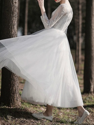 Gorgeous Wedding Dresses With Sleeves | Lace wedding dress short_4