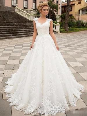 Designer Hochzeitskleider A Linie | Brautmoden Mit Spitze_1