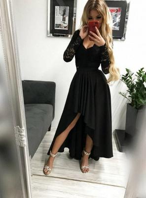 Burgundy prom dresses | Festive dresses with sleeves_2