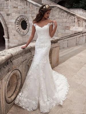 Wunderschöne Brautkleider Meerjungfrau | Spitze Hochzeitskleider Online_1