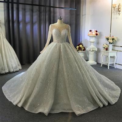 Extravagant wedding dresses princess   Wedding dresses glitter with sleeves_9