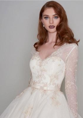 Wunderschöne Hochzeitskleider Kurz mit Ärmel | Spitze Brautkleider A Linie_3