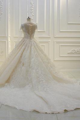 Schöne Brautkleider Mit Glitzer | Hochzeitskleider A Linie Spitze_5
