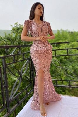 Elegante Abendkleider Lang Glitzer | Abiballkleider Günstig Online