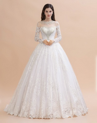 Gorgeous wedding dresses with sleeves | Lace wedding dress princess_2