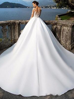 Luxus Brautkleider A Linie | Spitze Hochzeitskleider mit Ärmel_2