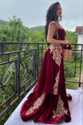 Weinrot Abendkleider Lang Günstig | Velvet Abendmoden online
