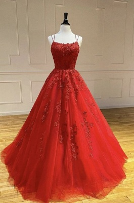 Beautiful evening dresses long red | Evening wear with lace online_4