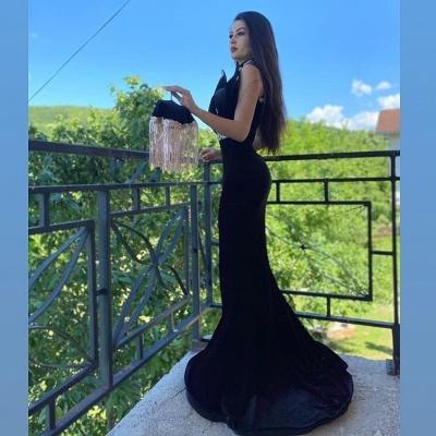 Elegante Abendkleider Lang Schwarz | Abiballkleider mit Spitze_3