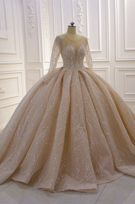 Extravagant wedding dresses princess   Wedding dresses glitter with sleeves_2