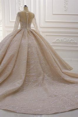 Extravagant wedding dresses princess   Wedding dresses glitter with sleeves_8