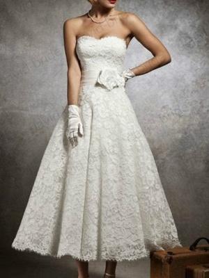 Brautkleid Kurz A linie | Hochzeitskleider mit Spitze_2