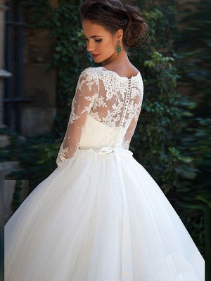 Günstige Brautkleider Prinzessin | Hochzeitskleider Spitze Ärmel_5