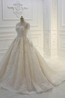 Schöne Brautkleider Mit Glitzer | Hochzeitskleider A Linie Spitze_4